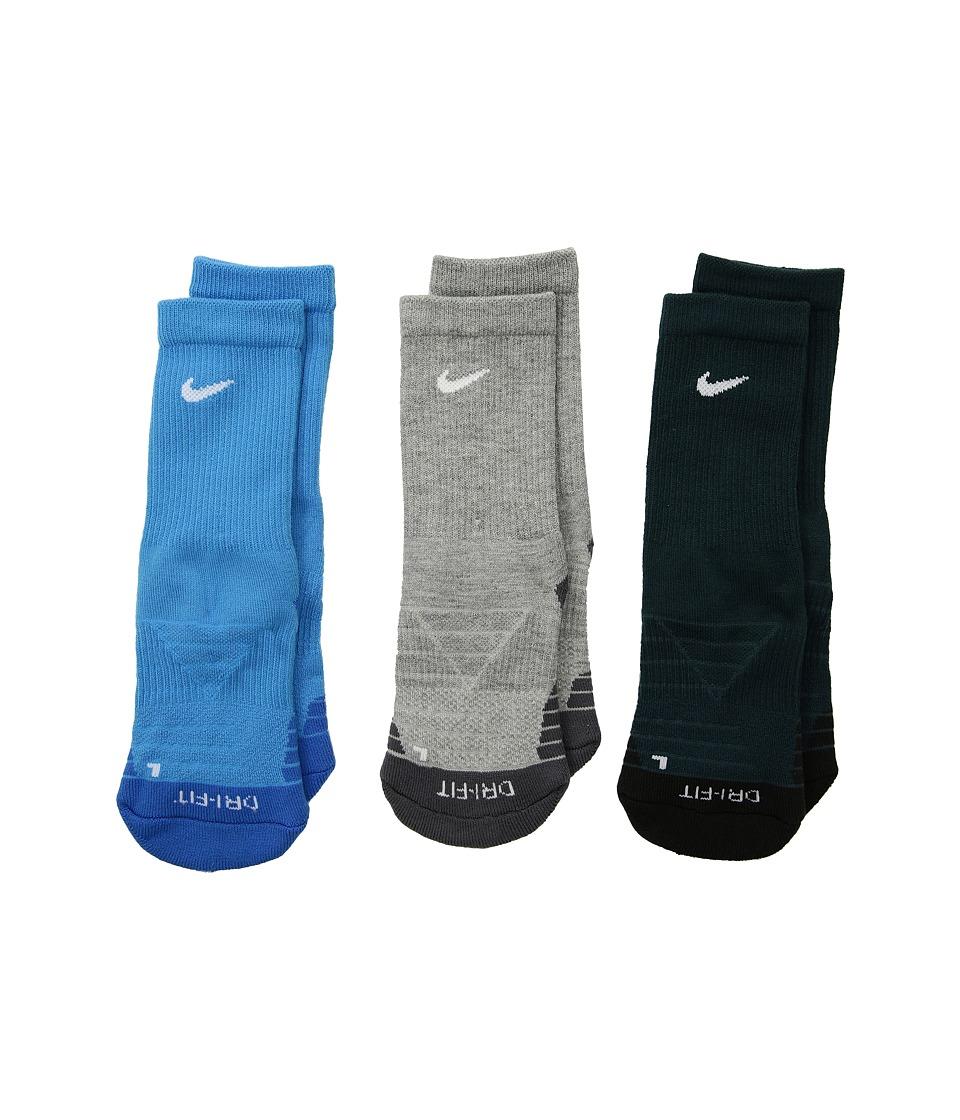 Nike Kids - Dri-Fit Cotton Cush Crew (Toddler) (Equator Blue) Boys Shoes