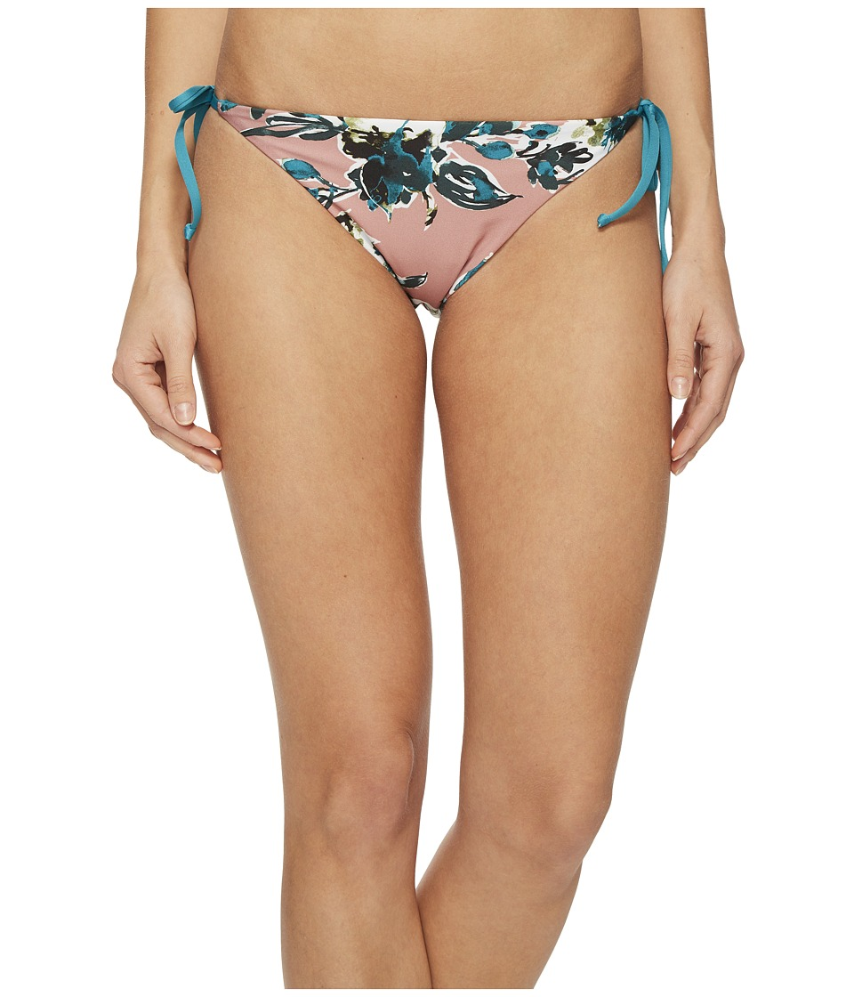 Splendid Watercolor Floral Reversible Tie Side Bikini Bottom (Pink) Women