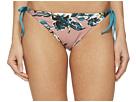 Splendid Watercolor Floral Reversible Tie Side Bikini Bottom