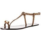 Sonia Rykiel Laminated Sheepskin Flat Pearl Toe Sandal