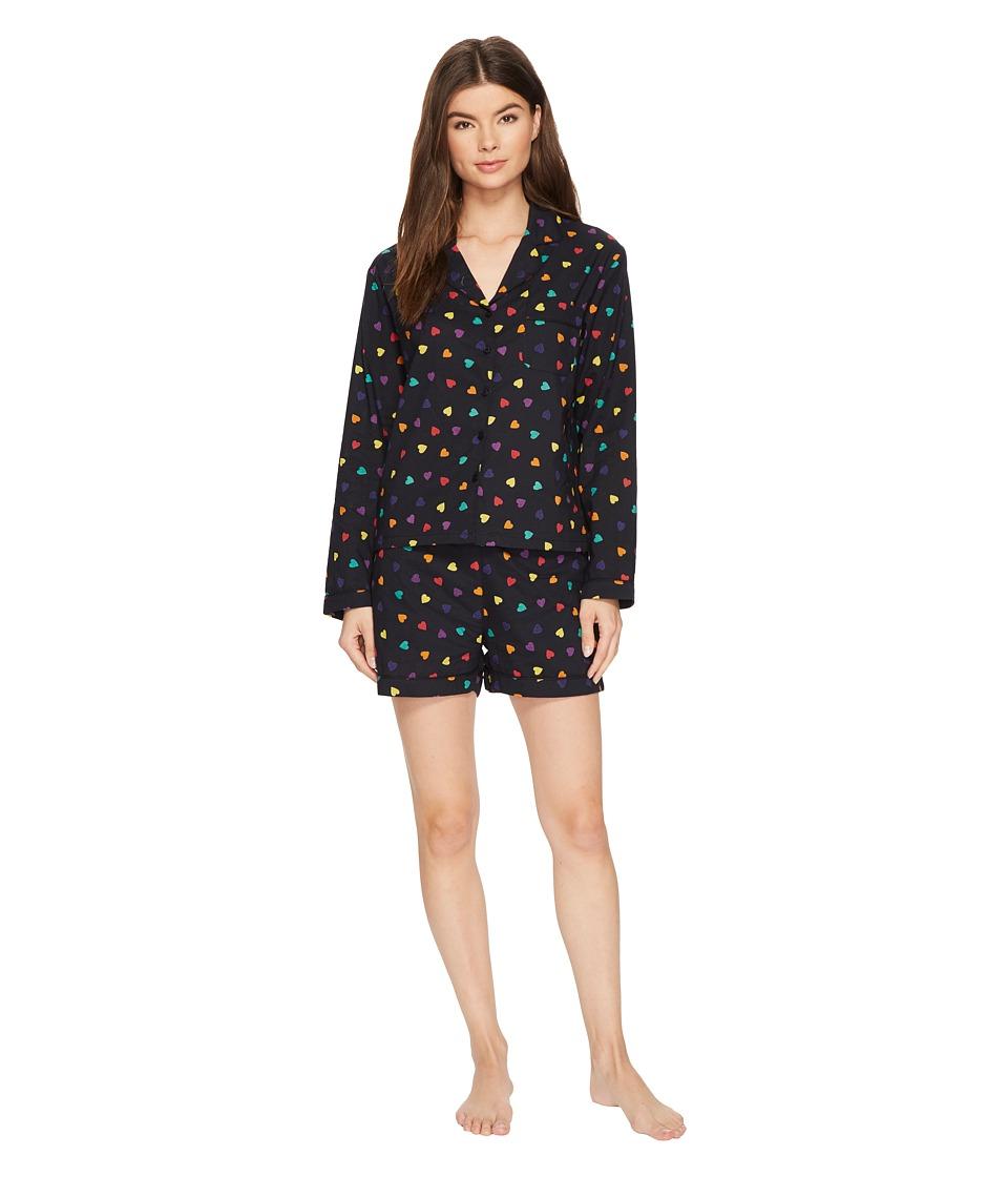 Only Hearts - Sleep To Dream Cotton Shorty Pajama in Sack (Rainbow Heart) Womens Pajama Sets