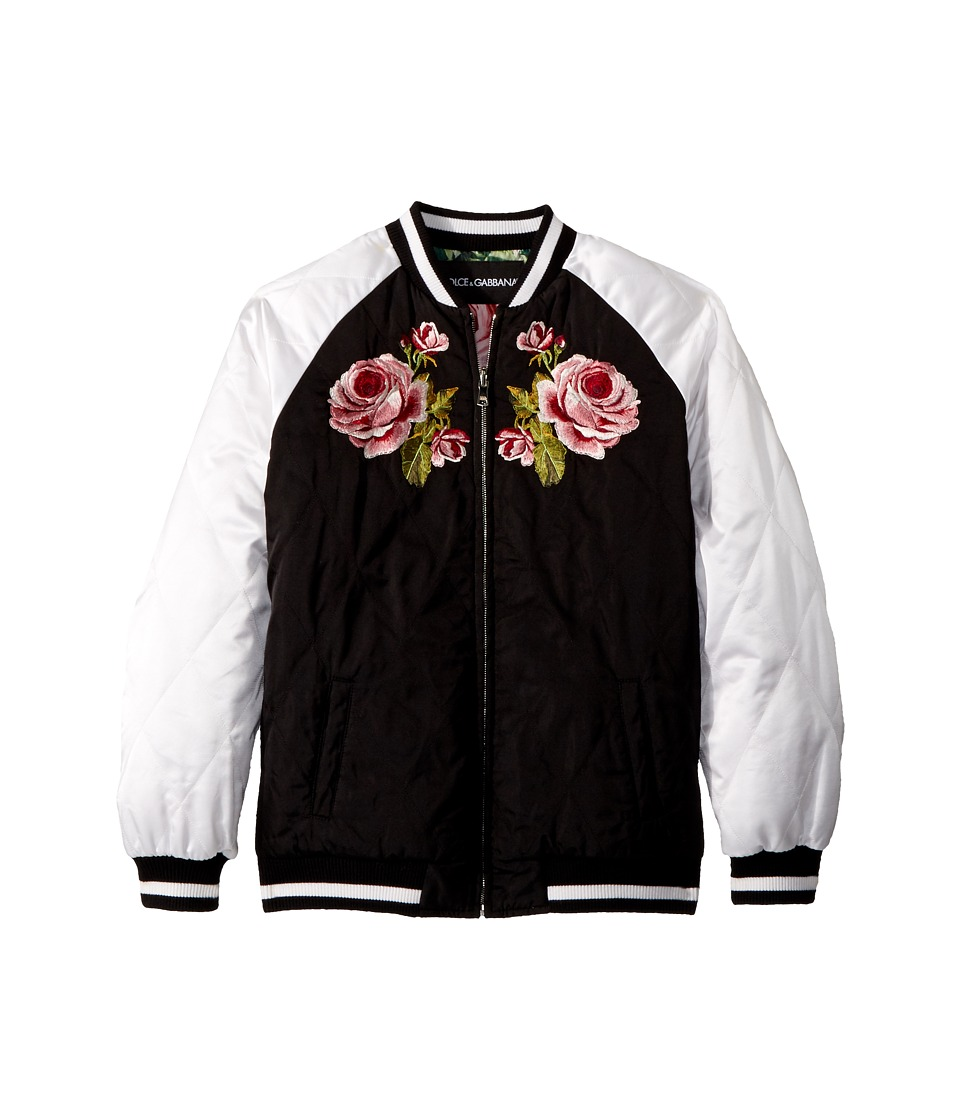 Dolce & Gabbana Kids Down Jacket -Short (Big Kids) (Black) Girl