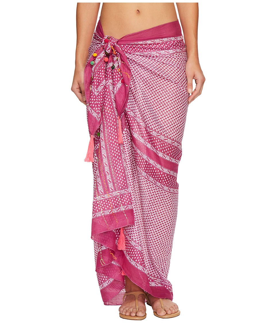 Hat Attack - Embellished Sarong/Scarf (Fuchsia) Scarves
