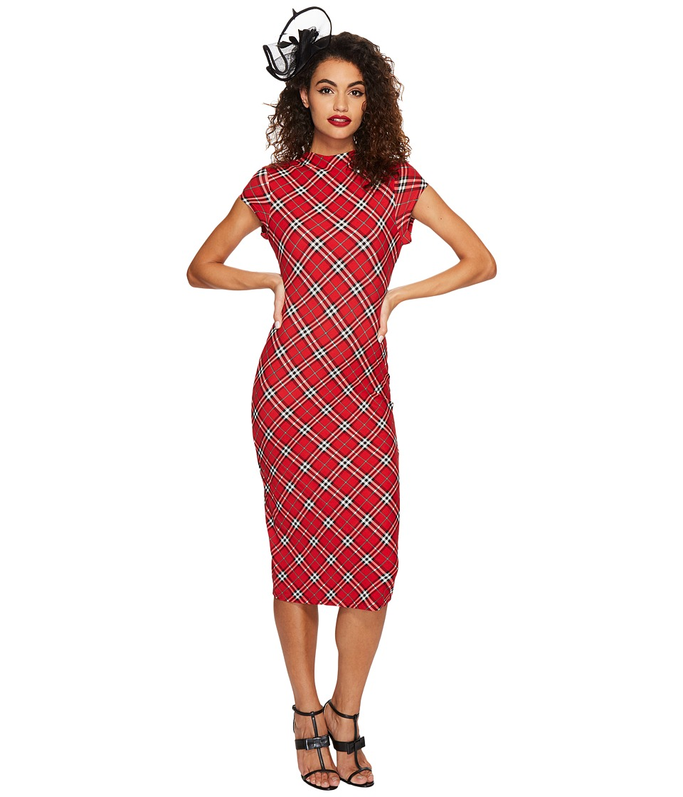 Unique Vintage - Cap Sleeve Holly Wiggle Dress