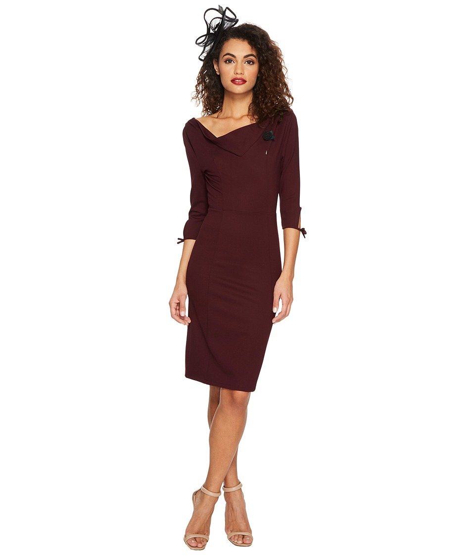 Unique Vintage - Carmen 1/2 Sleeve Wiggle Dress