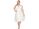 Unique Vintage Plus Size Satin Halter Hyannis Swing Dress