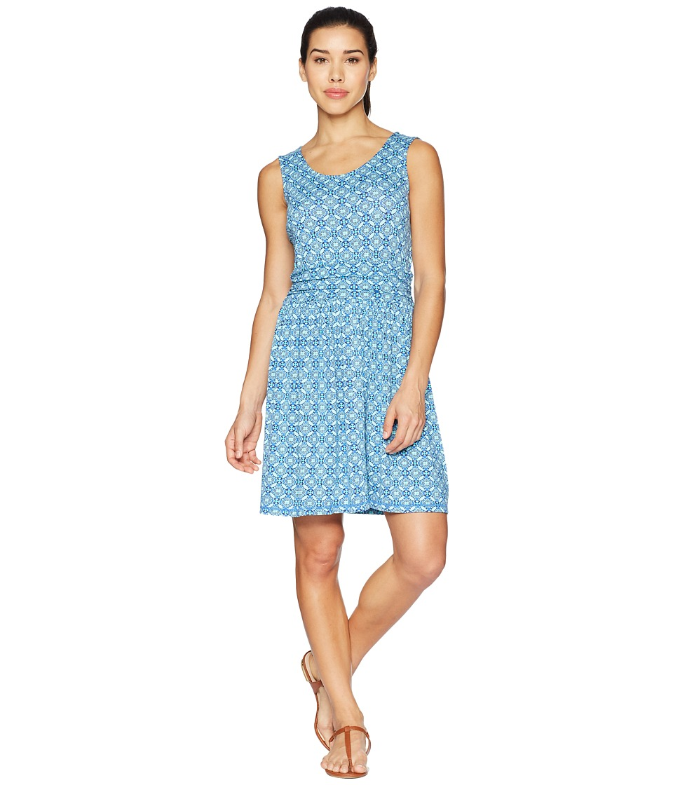 White Sierra Tangier Odor Free Printed Dress (Aqua) Women
