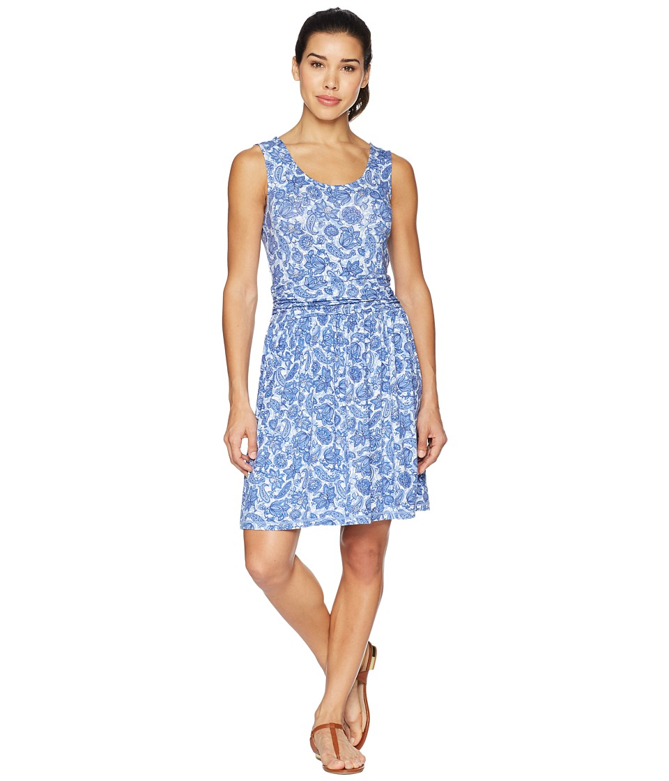 White Sierra Tangier Odor Free Printed Dress (Blue Violet) Women