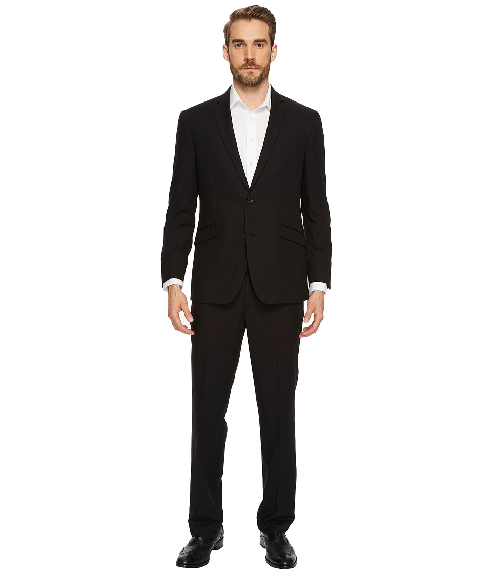 Kenneth Cole Reaction - Solid Suit (Black) Mens Suits Sets