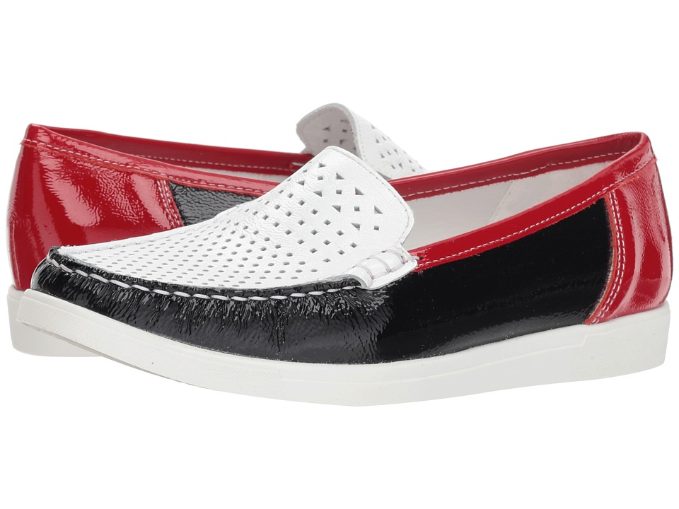 ara Monterey Moccasin (Red/White/Blue Patent) Women