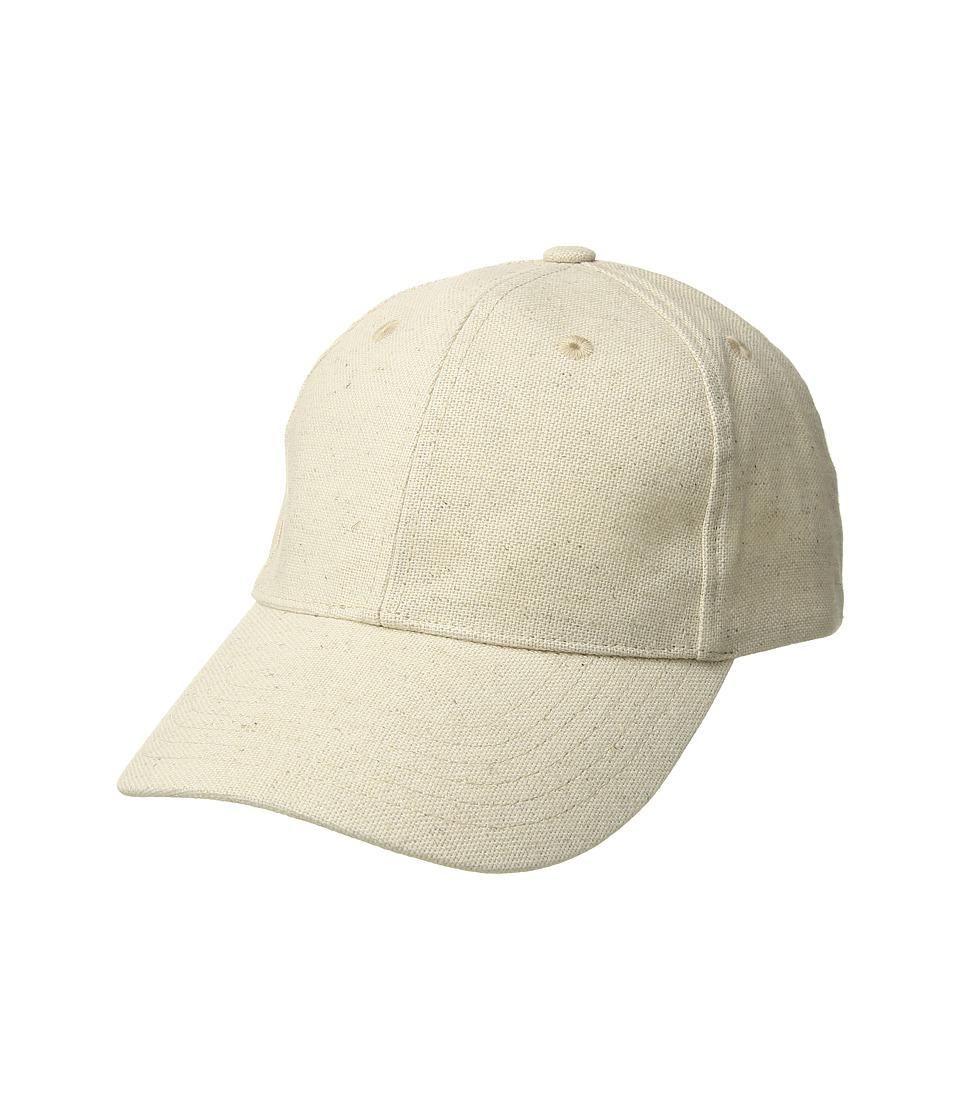 Hat Attack - Linen Baseball Cap (Natural) Baseball Caps