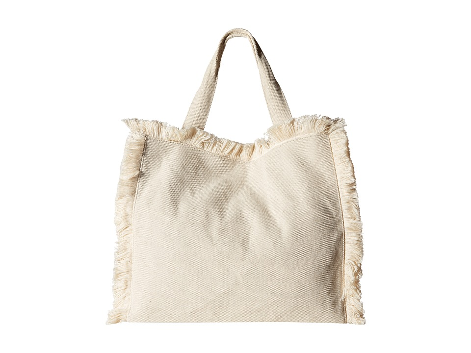 Hat Attack - Fringed Canvas Tote (Natural) Tote Handbags