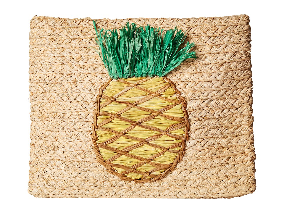 Vintage & Retro Handbags, Purses, Wallets, Bags Hat Attack - Whimsical Clutch Pineapple Clutch Handbags $82.00 AT vintagedancer.com