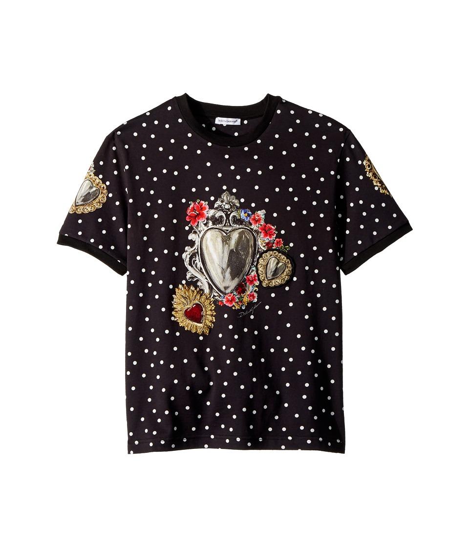Dolce & Gabbana Kids - T-Shirt (Big Kids) (Black Print) Boys Clothing