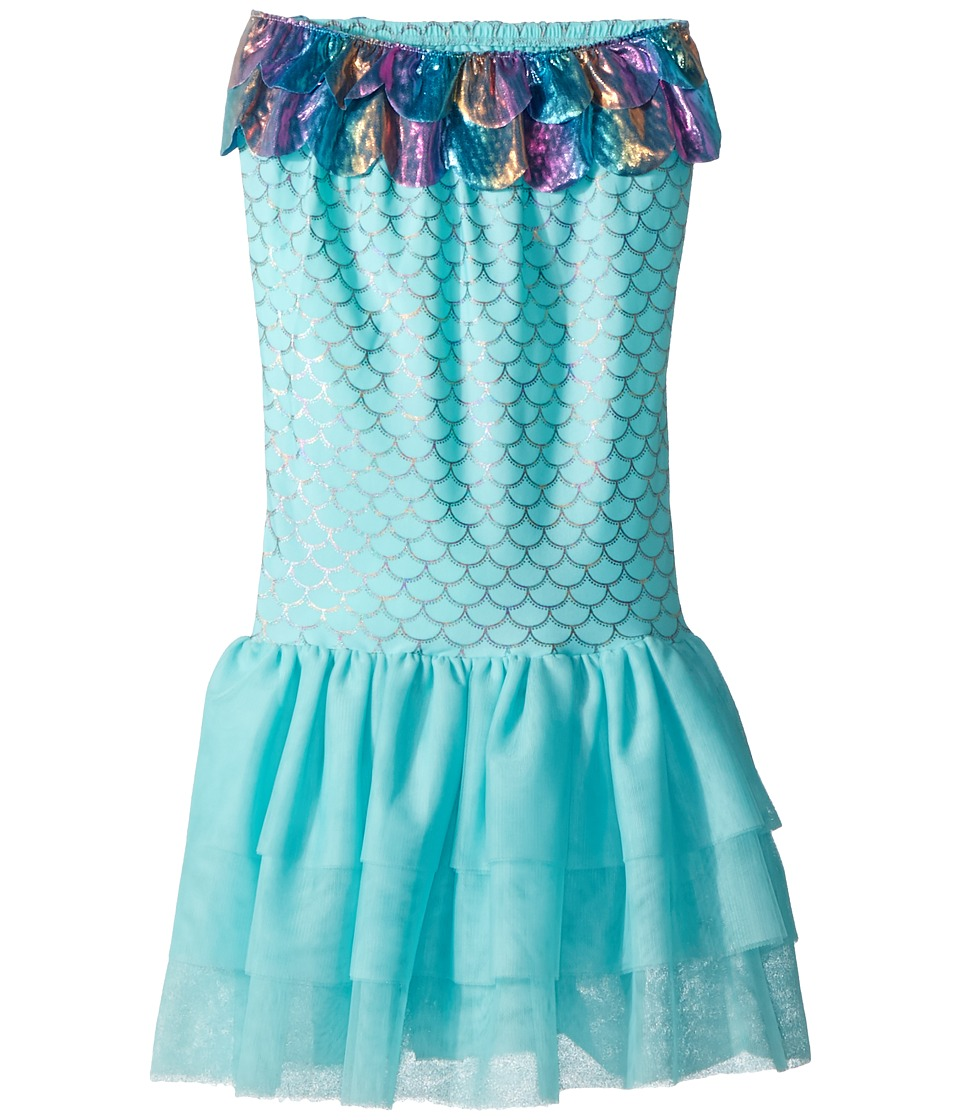 Mud Pie - Nylon Spandex Mermaid Swimming Tail (Little Kids) (Blue) Girls Skirt