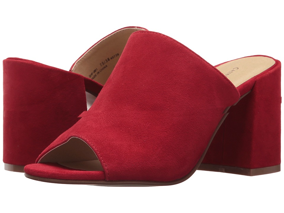 Chinese Laundry - Sammy Slide (Red Kid Suede) Womens Shoes