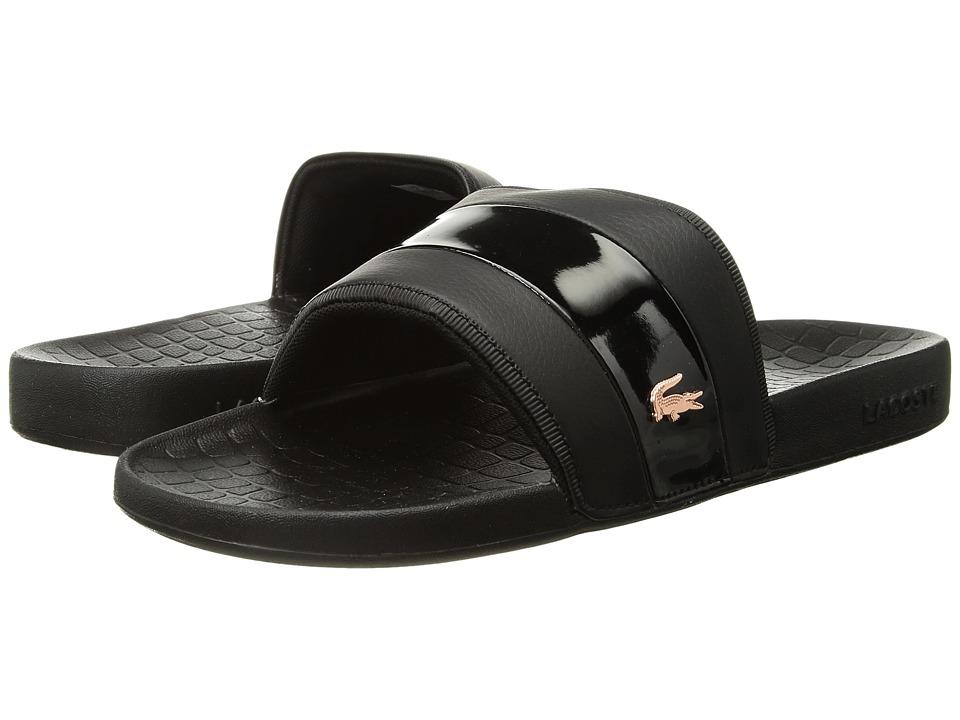 Lacoste Fraisier 118 2 U (Black/Pink) Women's Shoes