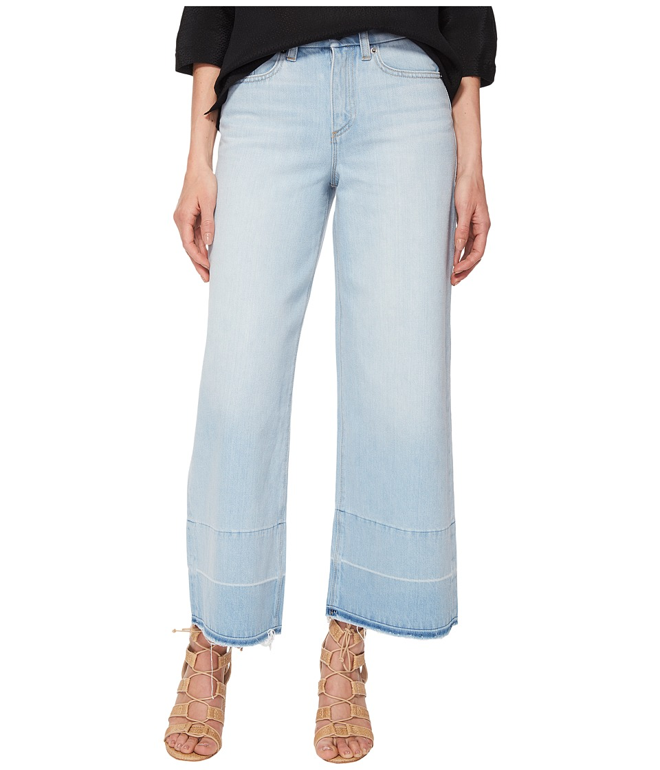 1.STATE - Five-Pocket Released Hem Wide Leg Jeans in Corsica Wash (Corsica Wash) Womens Jeans