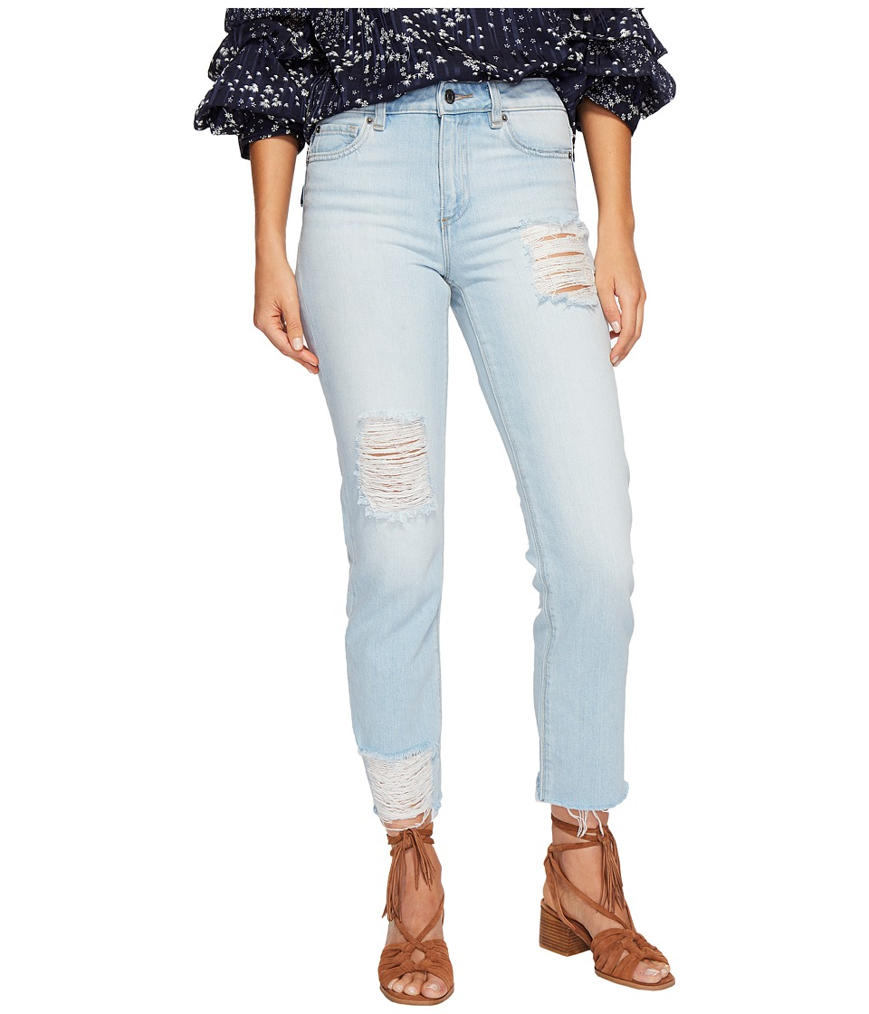 1.STATE - Five-Pocket Straight Leg Jeans with Rips in Corsica Wash (Corsica Wash) Womens Jeans