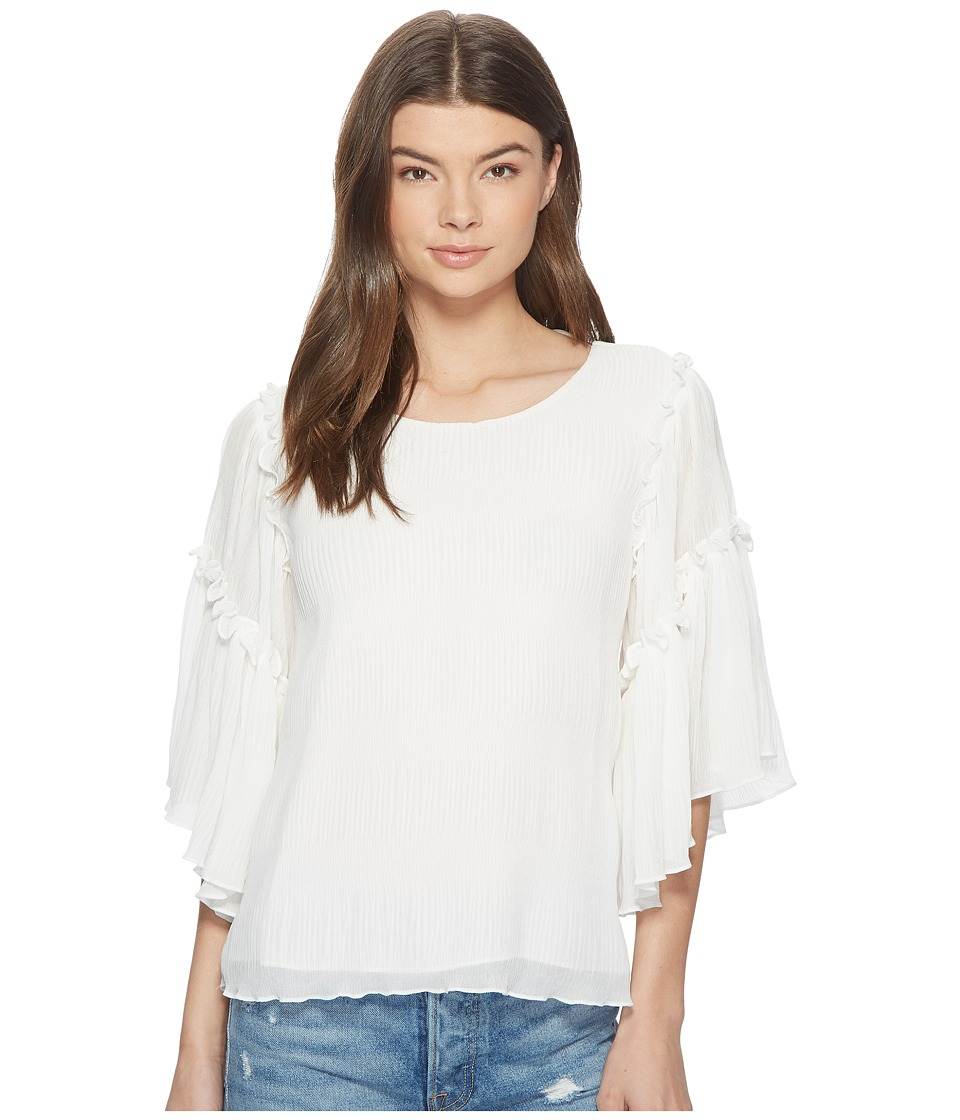 1.STATE - Flounce Sleeve Ruffle Edge Blouse (New Ivory) Womens Blouse