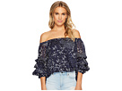 1.STATE Off Shoulder Pintuck Sleeve Blouse