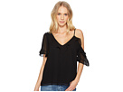 1.STATE 1.STATE Ruffle Edge Blouse w/ Shoulder Cut Out