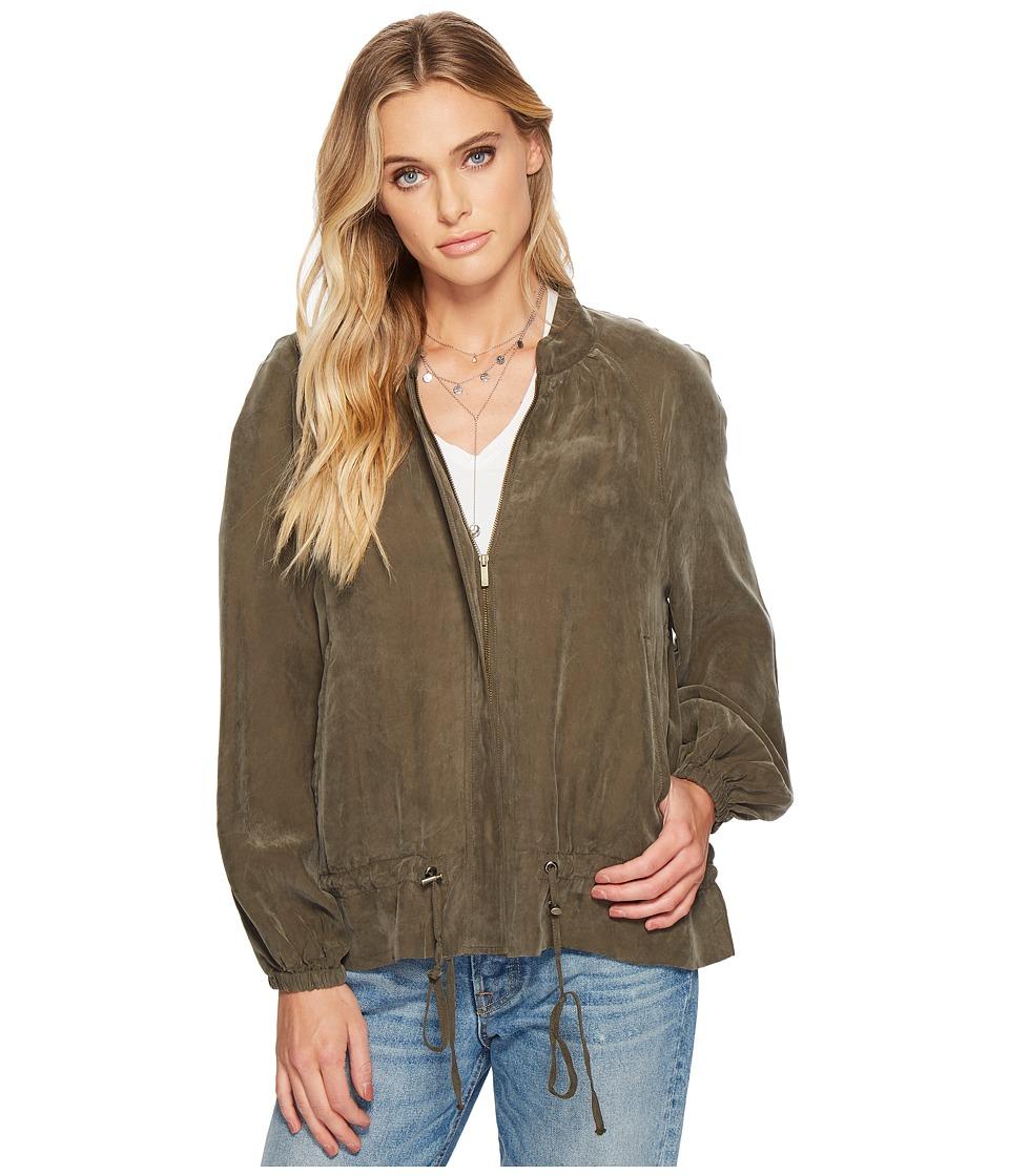 1.STATE - Blouson Sleeve Bomber Jacket (Olive Tree) Womens Coat