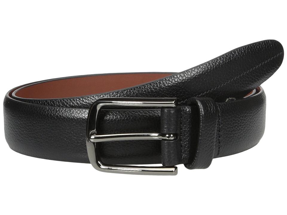 Perry Ellis Portfolio Park Ave Pebbled Leather Dress Belt (Black) Men