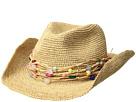 Hat Attack Raffia Crochet Cowgirl w/ Multi Stone Trim