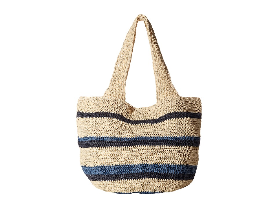 Hat Attack - Straw Carryall (Blues) Bags