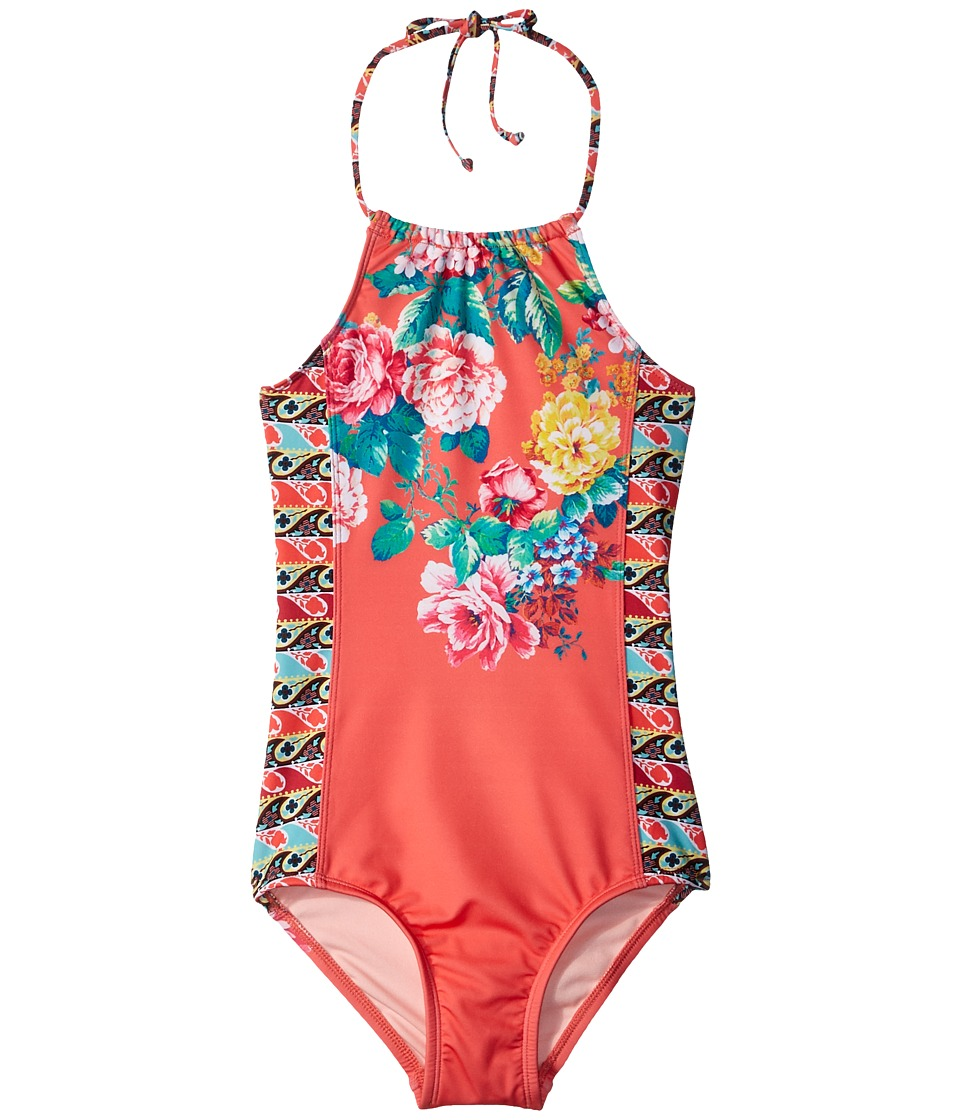 Hobie Kids - Petal Pusher One-Piece (Big Kids) (Hot Coral) Girls Swimsuits One Piece
