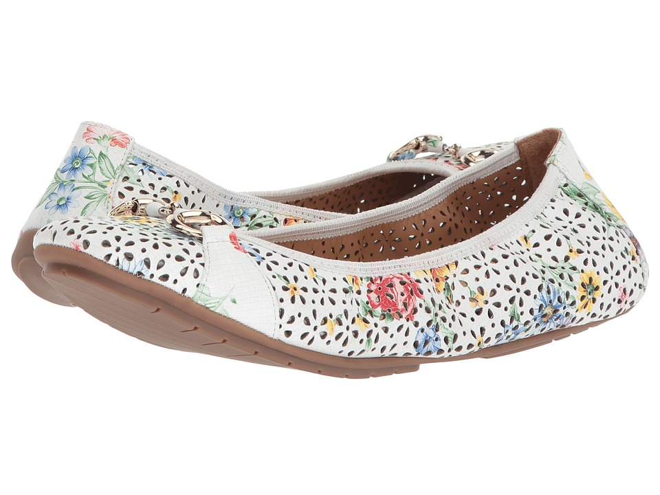 Me Too Luna (White Multi Floral Leather) Women