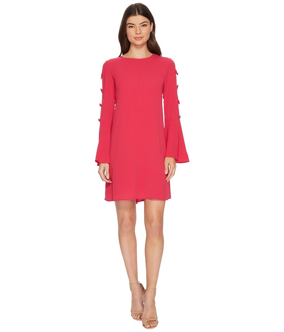 CeCe - Abby Bell Sleeve Bubble Texture Dress