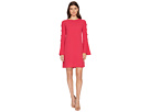 CeCe Abby Bell Sleeve Bubble Texture Dress
