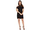 CeCe Anne Cold Shoulder Lace Trim Dress
