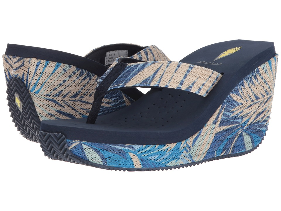 VOLATILE - Gamechanger (Navy) Womens Wedge Shoes