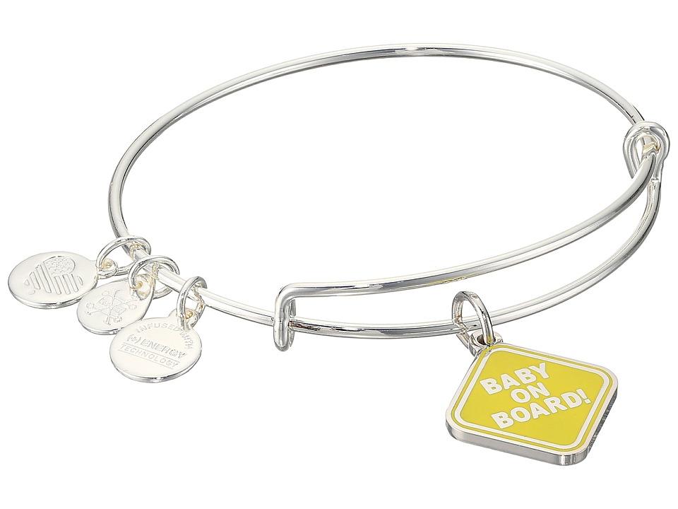 Alex And Ani Baby on Board Bangle (Shiny Silver) Bracelet