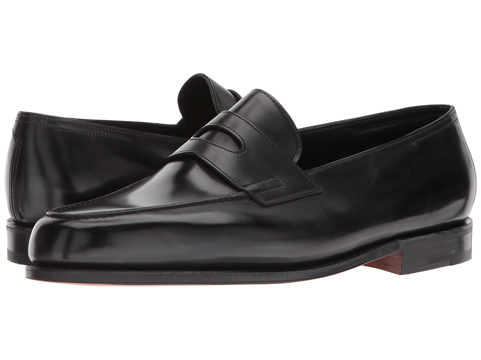 John Lobb - Lopez Loafer (Black) Mens Slip on  Shoes