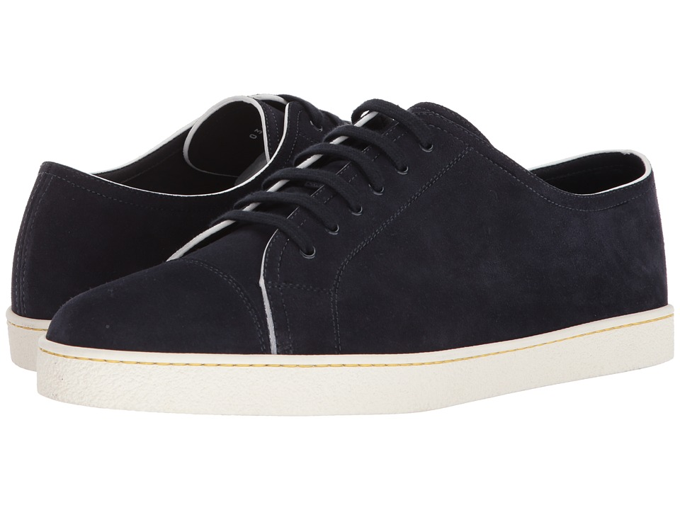 John Lobb - Unlined Levah Sneaker (Midnight Suede) Mens Lace up casual Shoes