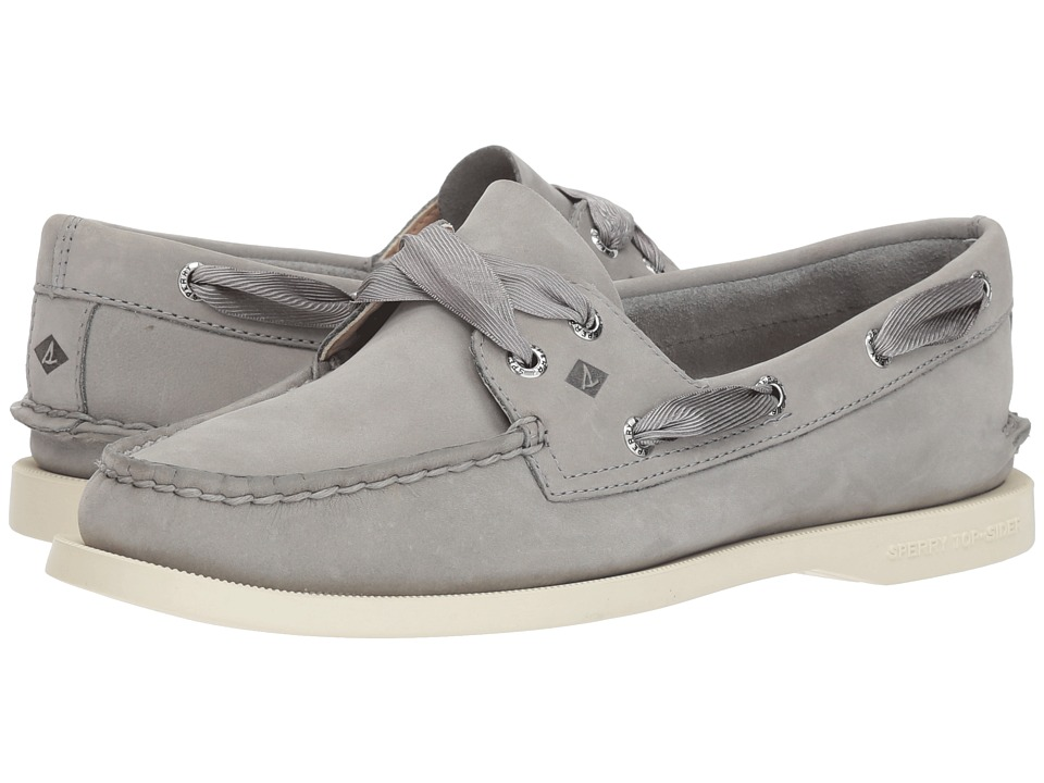 Sperry A/O Satin Lace (Grey) Slip-On Shoes
