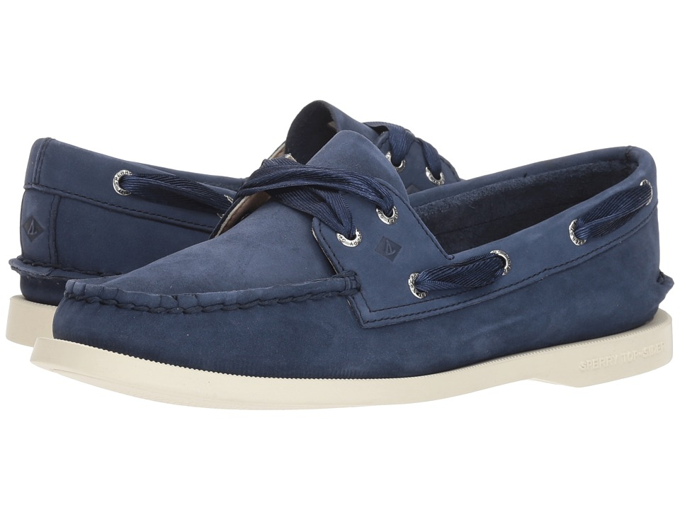Sperry A/O Satin Lace (Navy) Slip-On Shoes