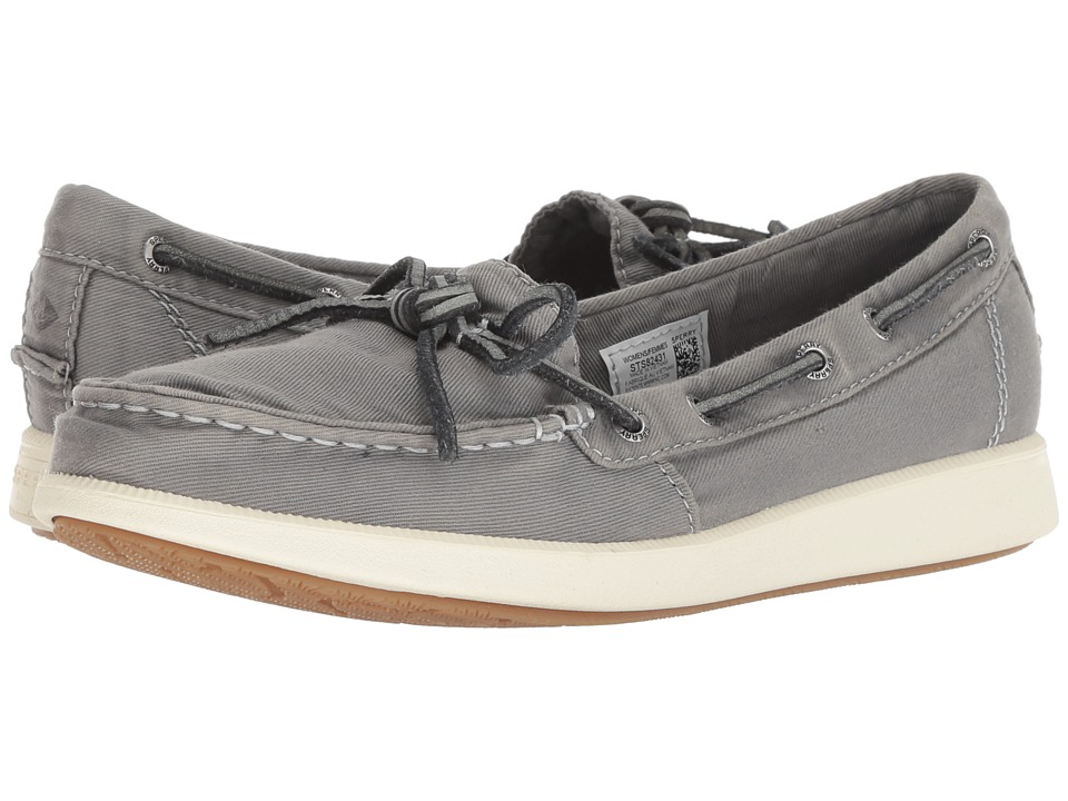 Sperry Oasis Canal Canvas (Grey) Slip-On Shoes