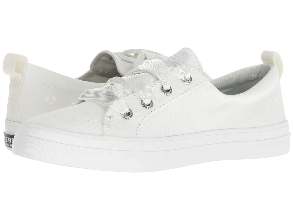 Sperry Crest Vibe Satin Lace (White)