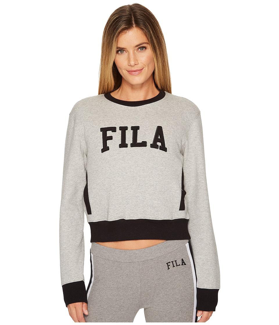 Fila Sheena Sweatshirt (Gray Heather/Black) Women
