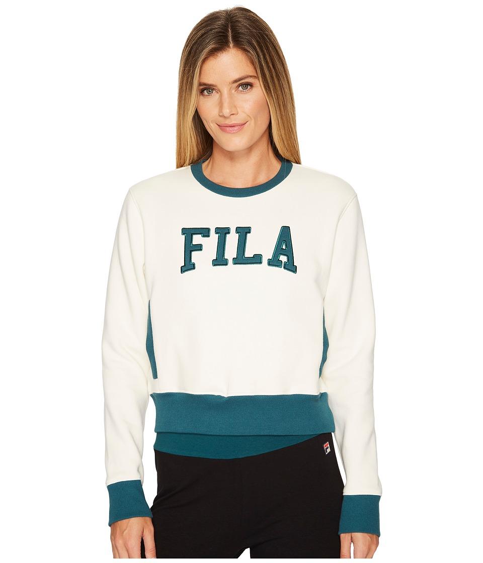 Fila Sheena Sweatshirt (Gardenia/Deep Teal) Women