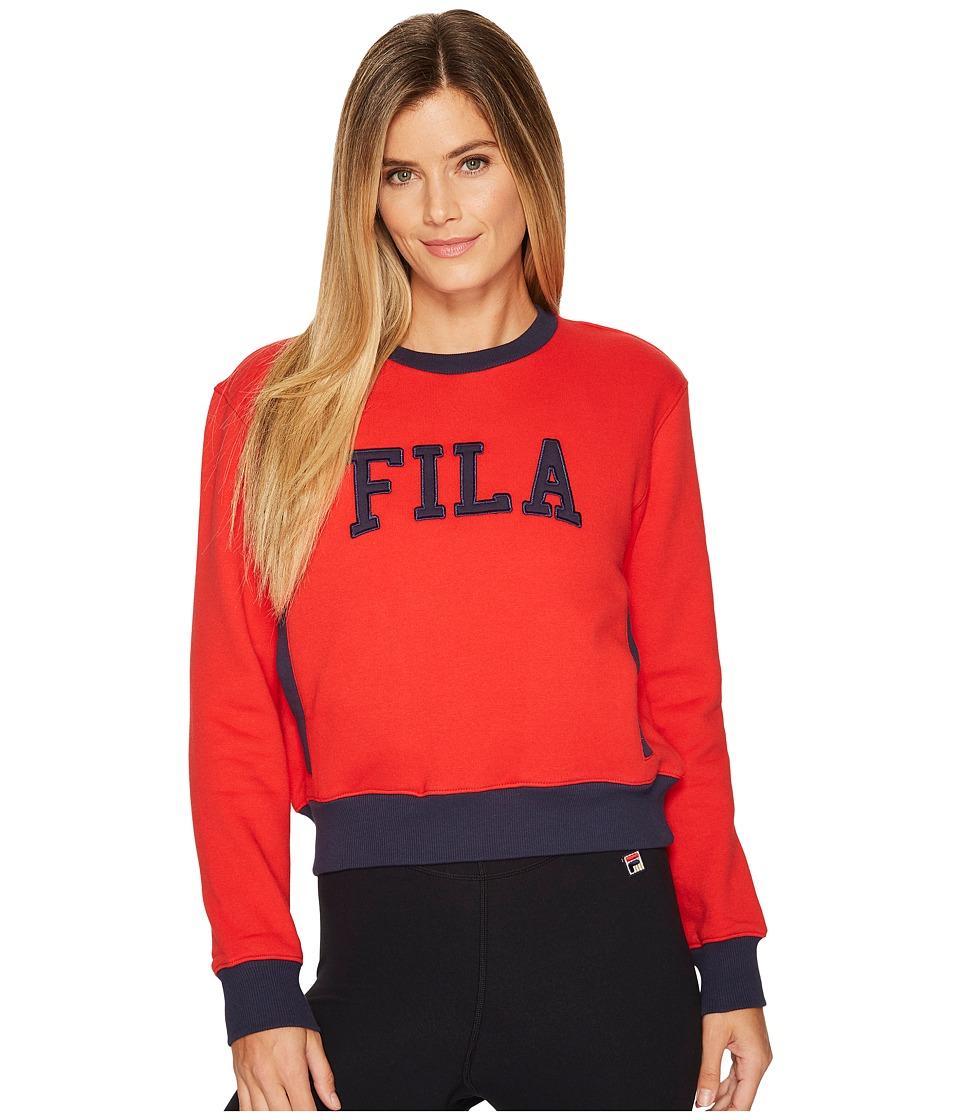 Fila Sheena Sweatshirt (Red/Navy) Women