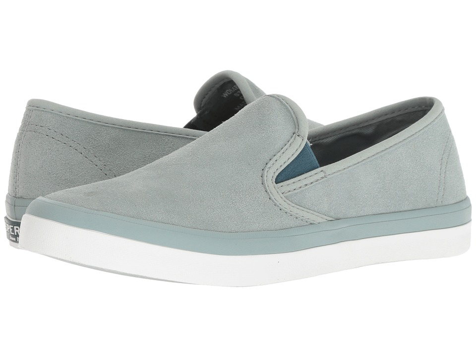 Sperry Seaside Suede (Mint) Slip-On Shoes