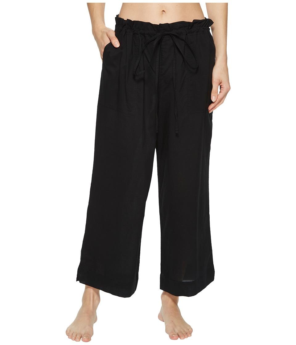 Commando - Cotton Voile Crop Pants CV102 (Black) Womens Pajama