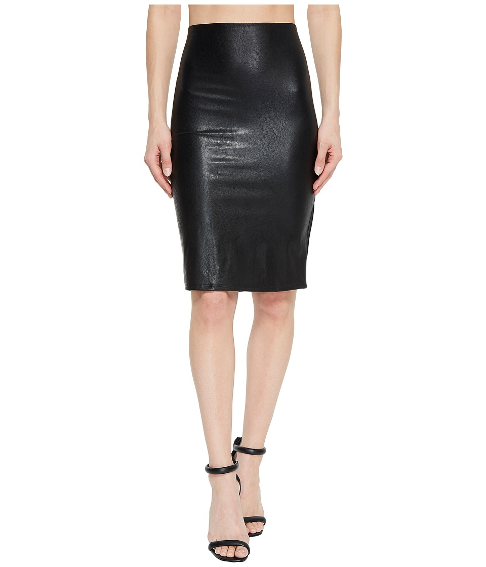 Commando - Faux Leather Perfect Pencil Skirt SK01 (Black) Womens Skirt