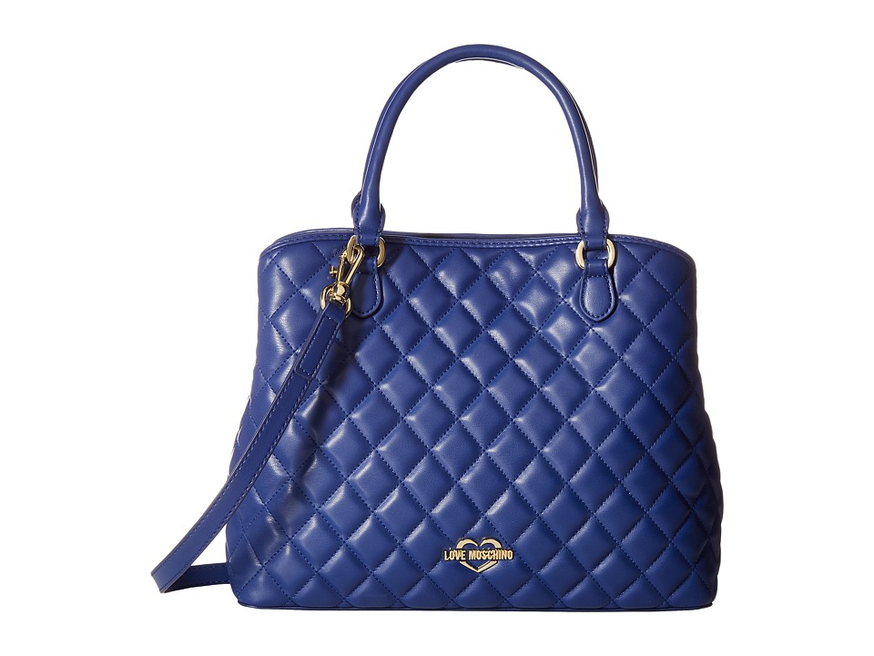 LOVE Moschino - Super Quilted Tote (Navy) Tote Handbags